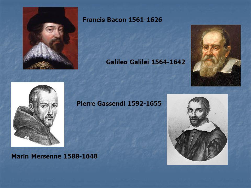 Francis Bacon 1561-1626 Galileo Galilei 1564-1642.
