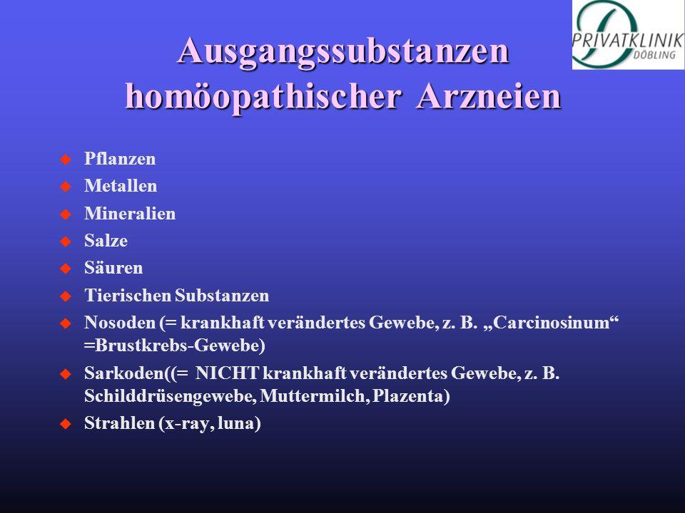 Ausgangssubstanzen homöopathischer Arzneien
