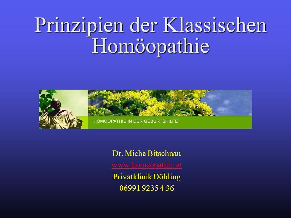 Prinzipien der Klassischen Homöopathie