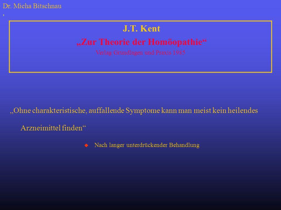 """""""Zur Theorie der Homöopathie"""