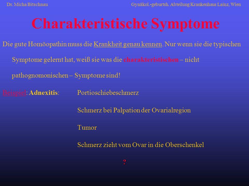 Charakteristische Symptome