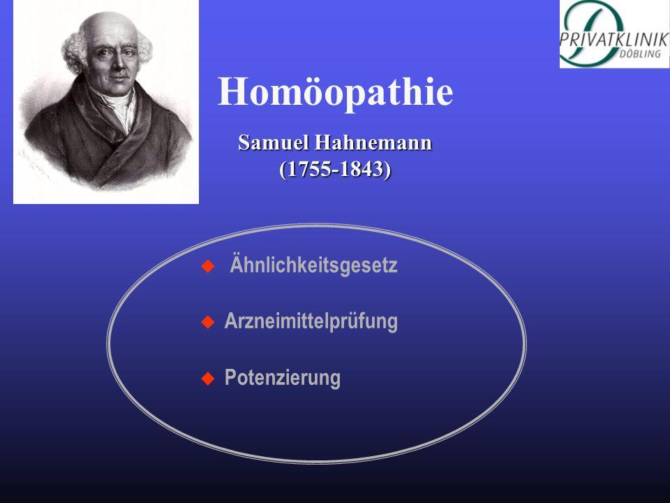 Homöopathie Samuel Hahnemann (1755-1843) Ähnlichkeitsgesetz
