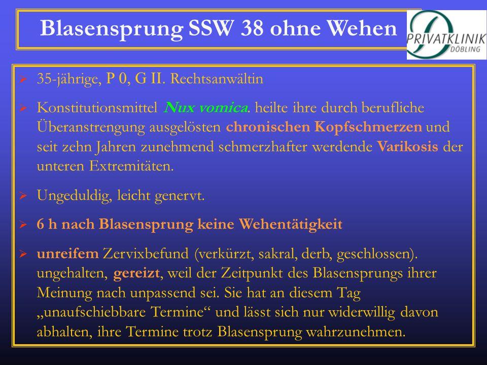 Blasensprung SSW 38 ohne Wehen