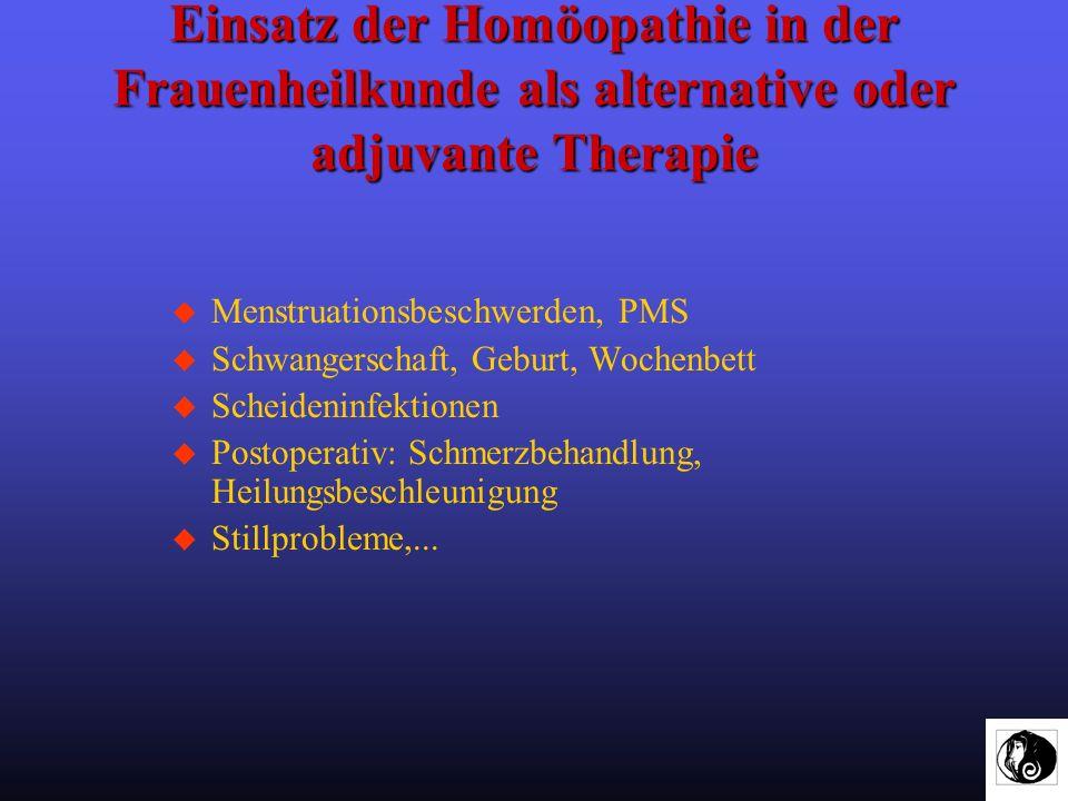 Einsatz der Homöopathie in der Frauenheilkunde als alternative oder adjuvante Therapie