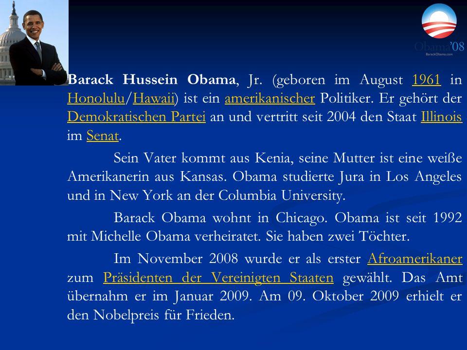 Barack Hussein Obama, Jr