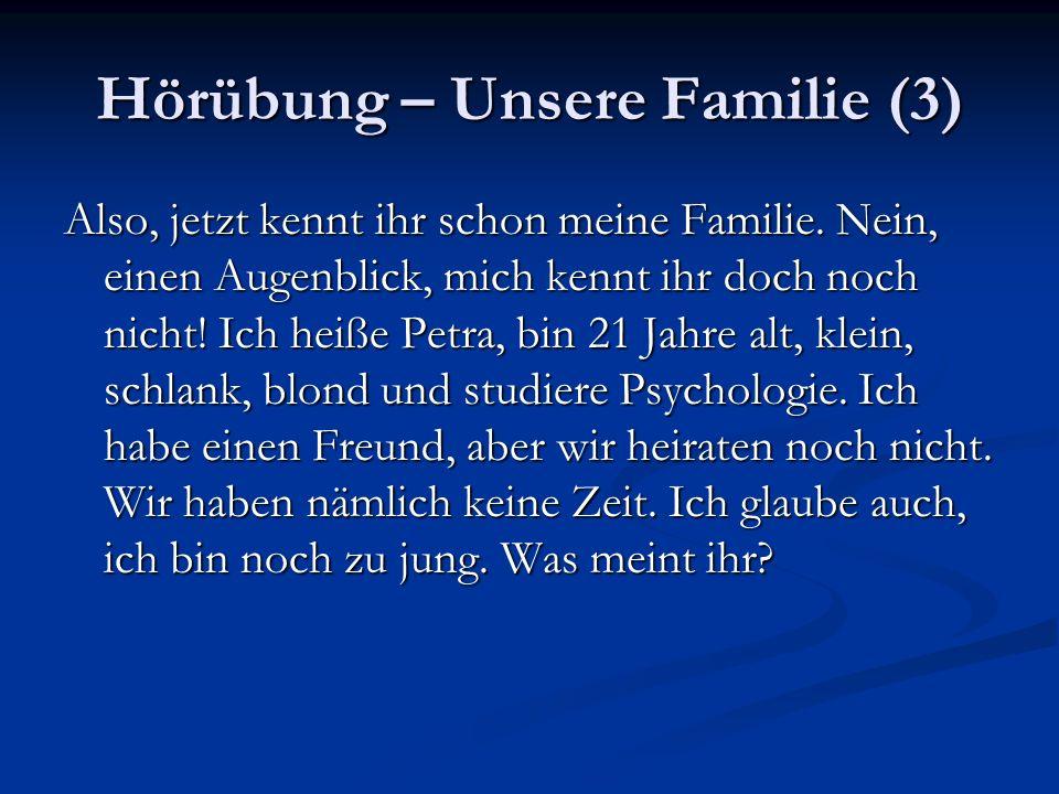 Hörübung – Unsere Familie (3)