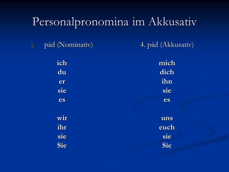 Personalpronomina im Akkusativ