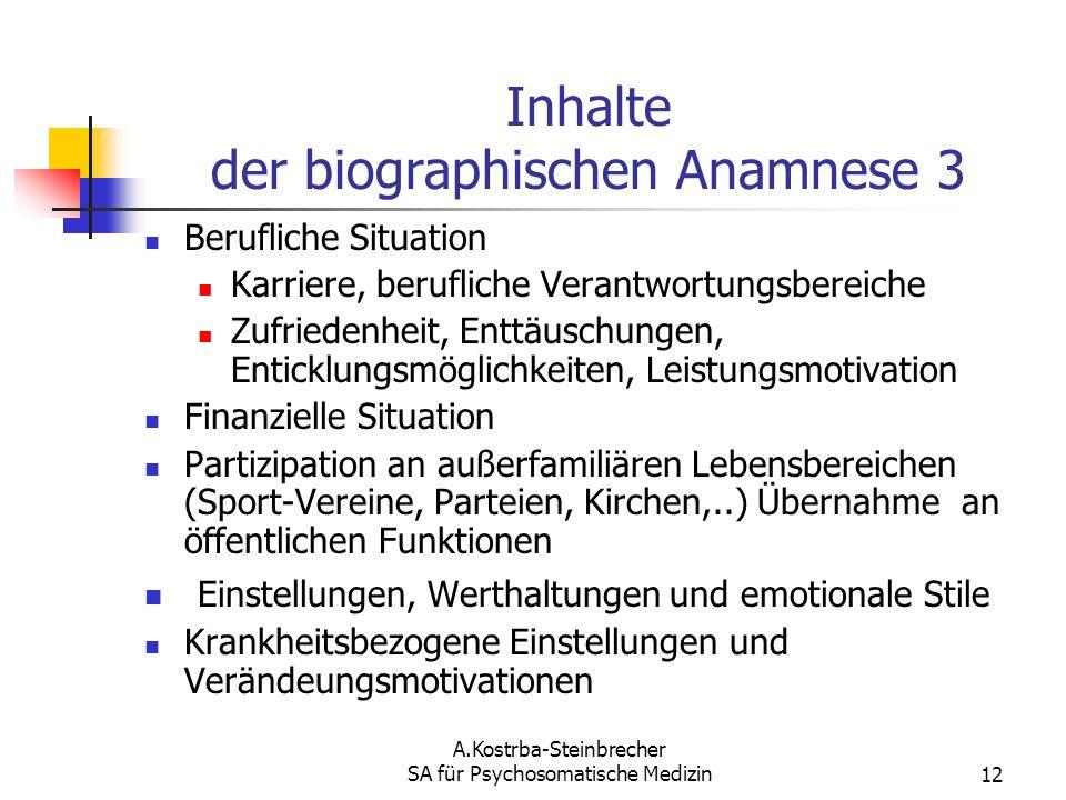 Inhalte der biographischen Anamnese 3