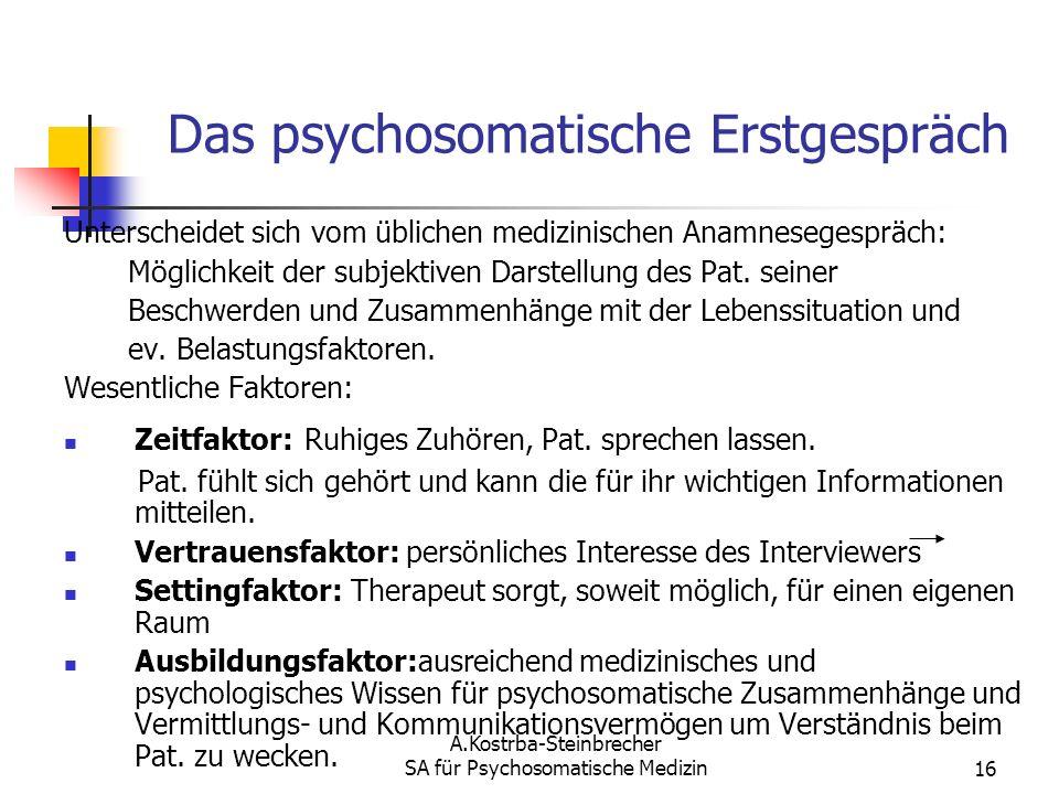 Das psychosomatische Erstgespräch