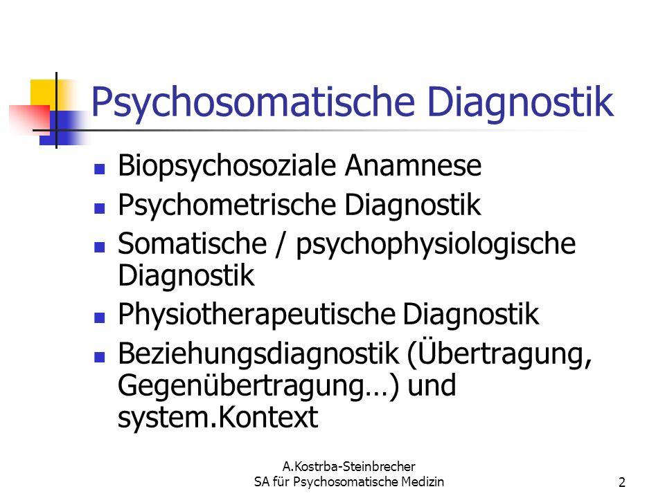 Psychosomatische Diagnostik
