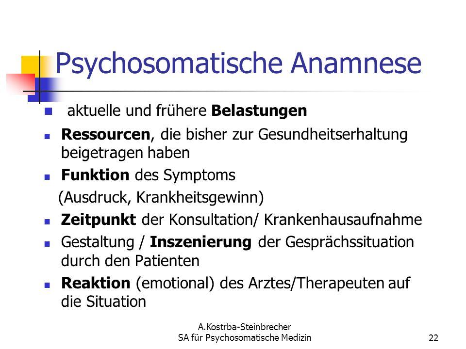 Psychosomatische Anamnese