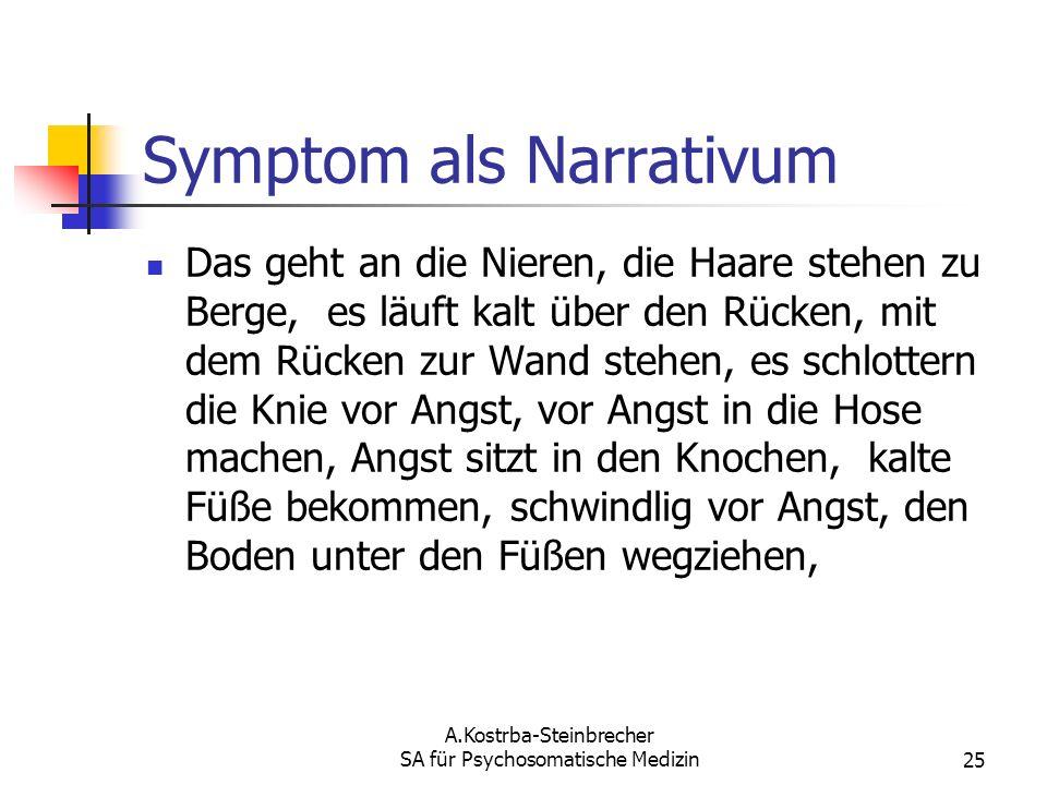 Symptom als Narrativum