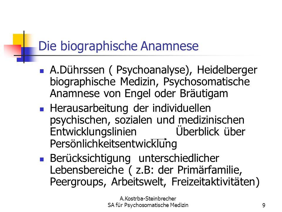 Die biographische Anamnese