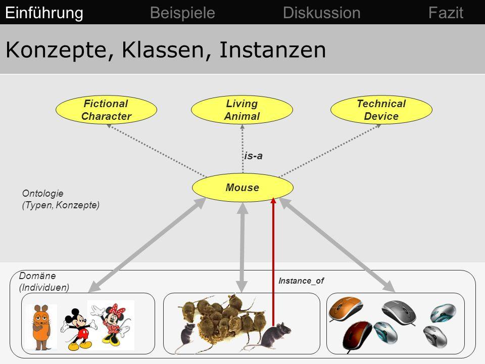 Konzepte, Klassen, Instanzen