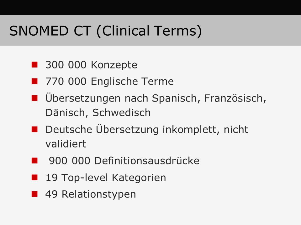 SNOMED CT (Clinical Terms)