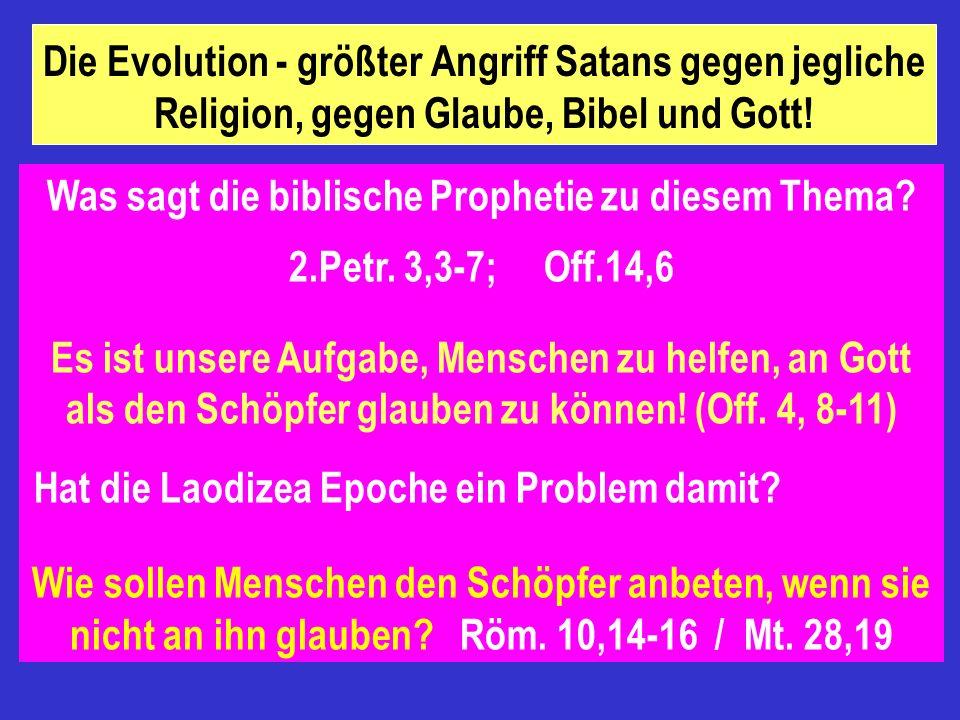 Was sagt die biblische Prophetie zu diesem Thema