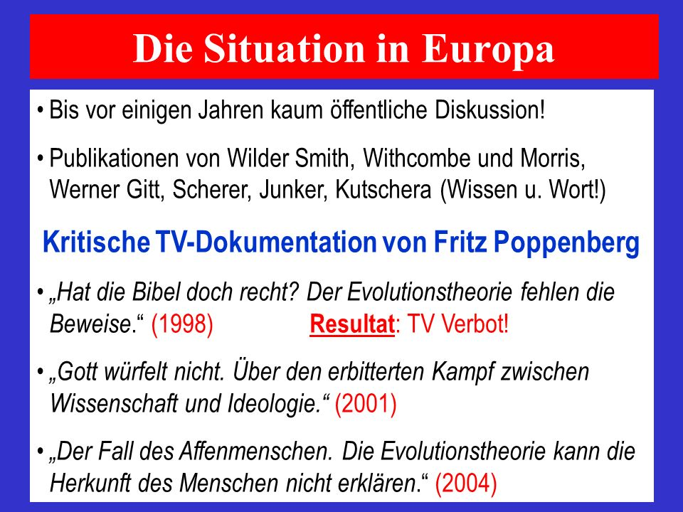 Die Situation in Europa