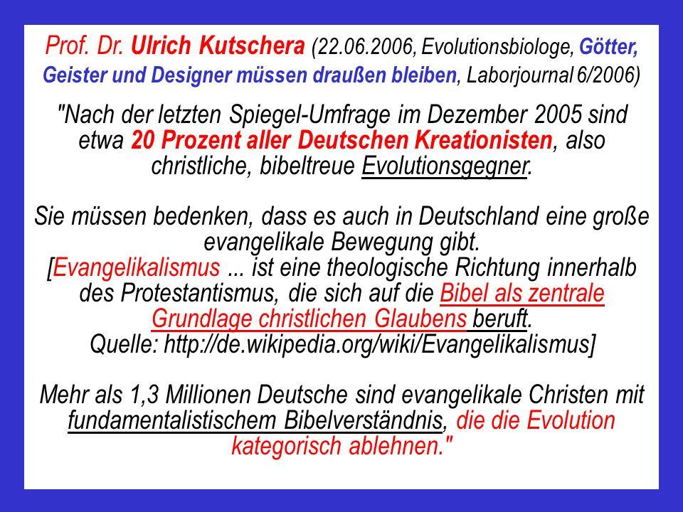 Prof. Dr. Ulrich Kutschera (22. 06