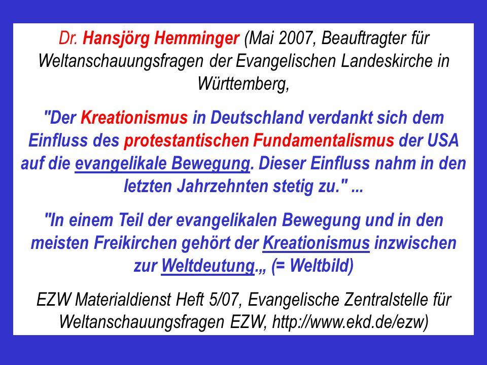 Dr. Hansjörg Hemminger (Mai 2007, Beauftragter für Weltanschauungsfragen der Evangelischen Landeskirche in Württemberg,