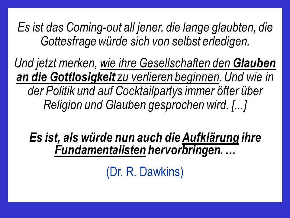 Es ist das Coming-out all jener, die lange glaubten, die Gottesfrage würde sich von selbst erledigen.