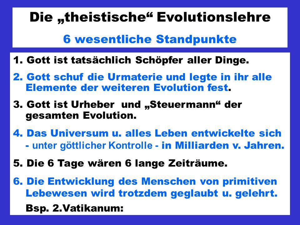 """Die """"theistische Evolutionslehre"""