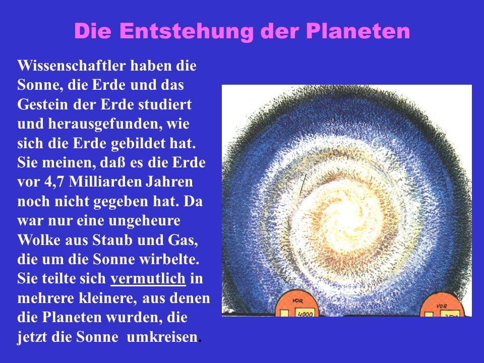 Die Entstehung der Planeten