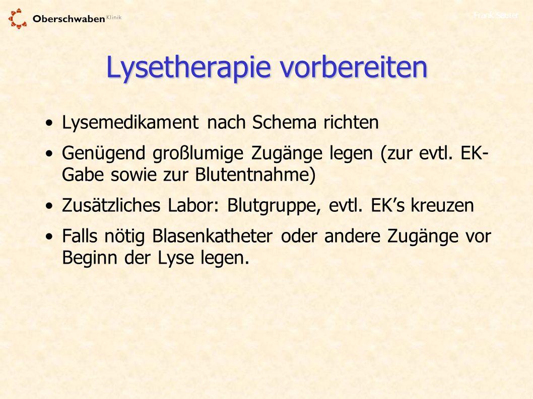 Lysetherapie vorbereiten