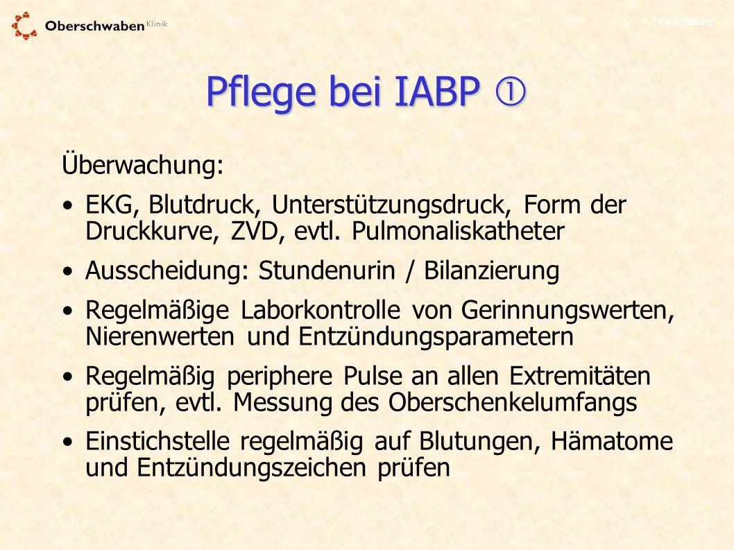 Pflege bei IABP  Überwachung: