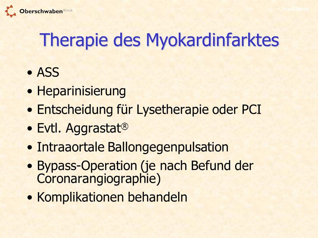 Therapie des Myokardinfarktes