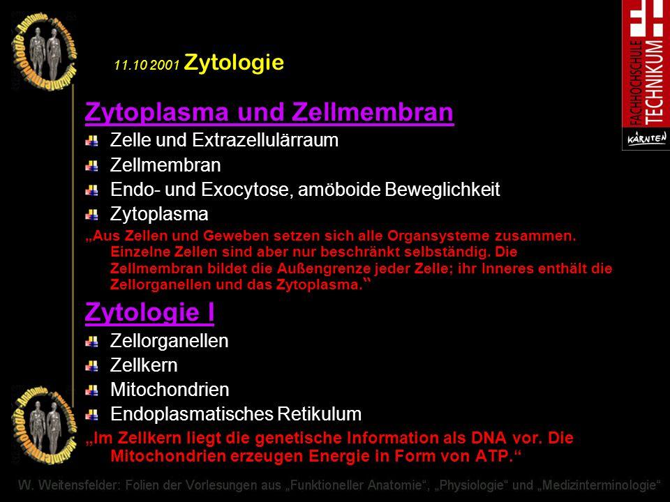 Zytoplasma und Zellmembran