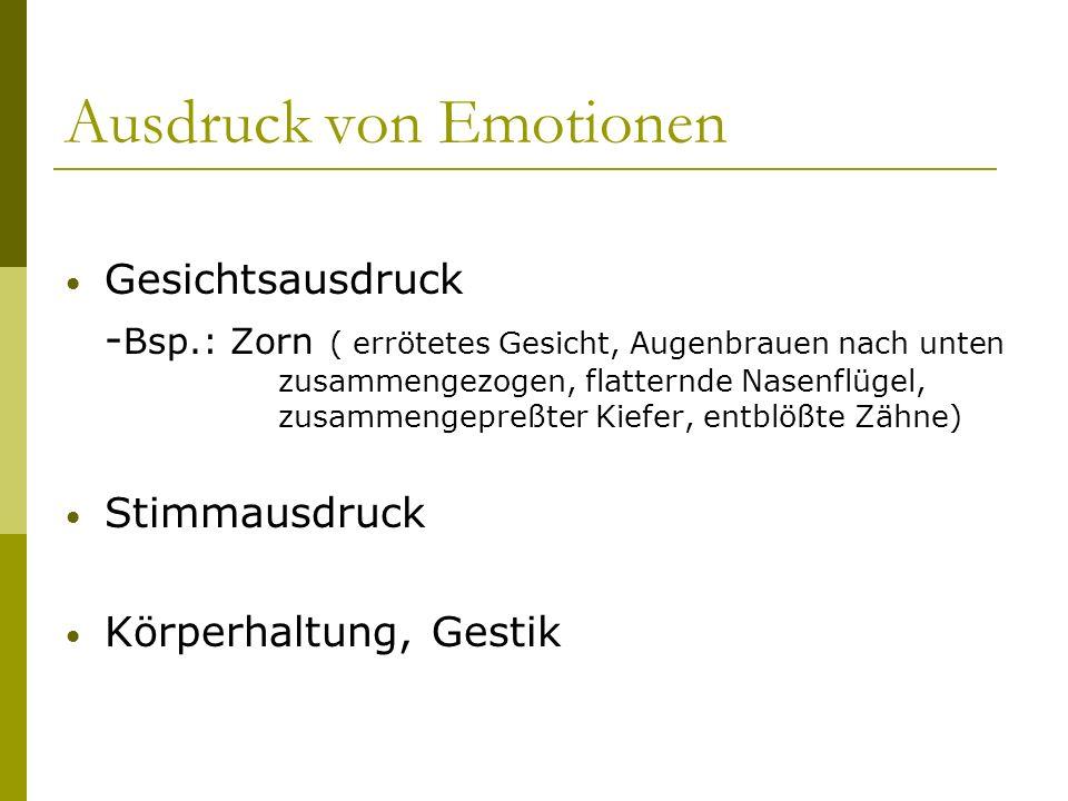 Ausdruck von Emotionen