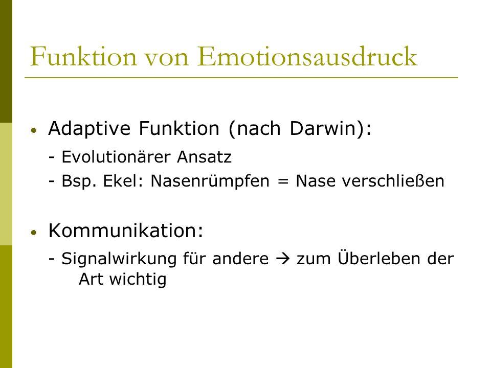 Funktion von Emotionsausdruck