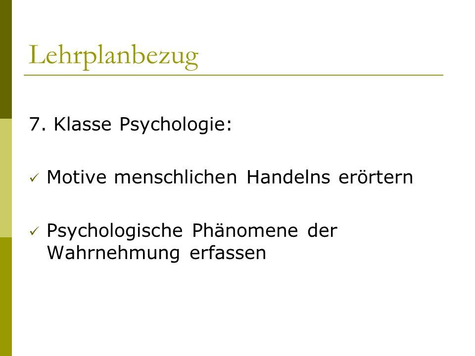 Lehrplanbezug 7. Klasse Psychologie: