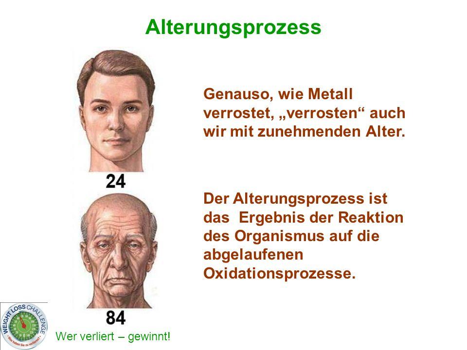 """Alterungsprozess Genauso, wie Metall verrostet, """"verrosten auch wir mit zunehmenden Alter."""