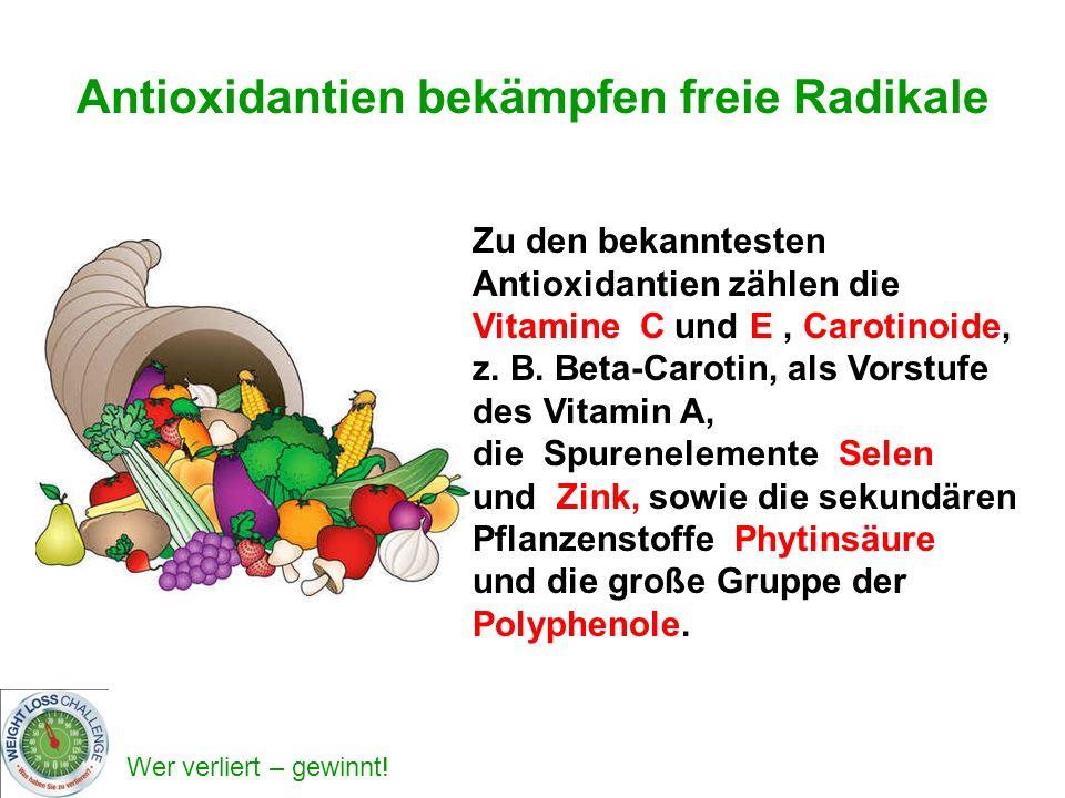 Antioxidantien bekämpfen freie Radikale