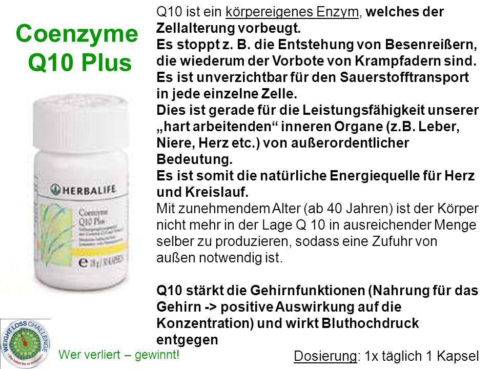 Q10 ist ein körpereigenes Enzym, welches der Zellalterung vorbeugt.
