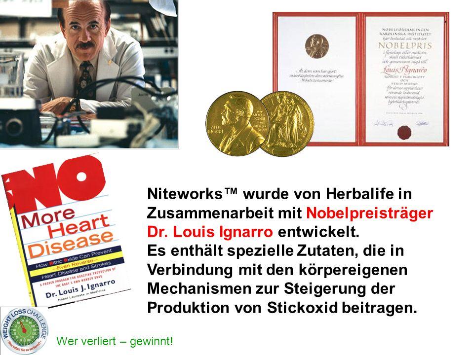 Niteworks™ wurde von Herbalife in Zusammenarbeit mit Nobelpreisträger Dr. Louis Ignarro entwickelt.