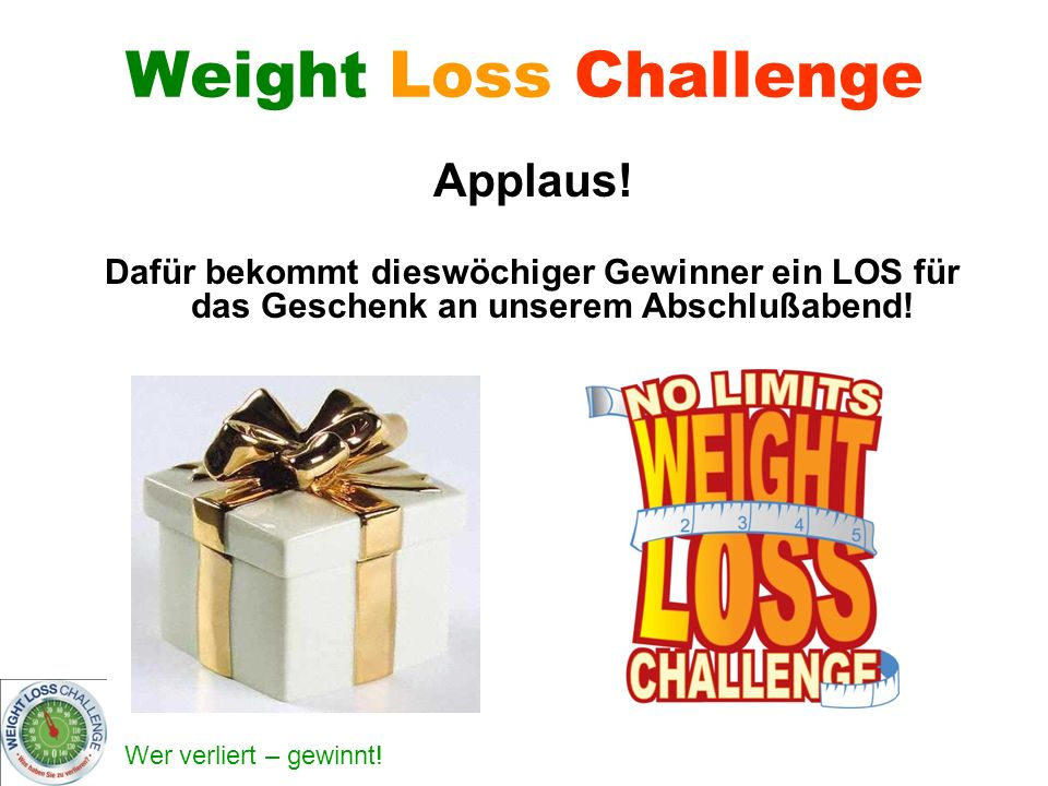 Weight Loss Challenge Applaus!