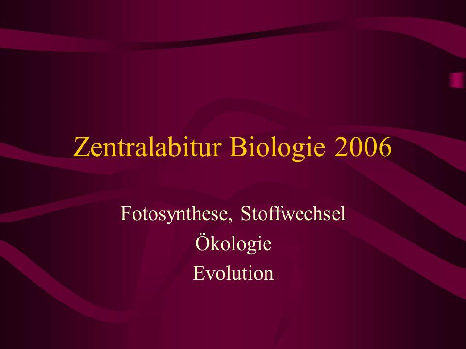 Zentralabitur Biologie 2006
