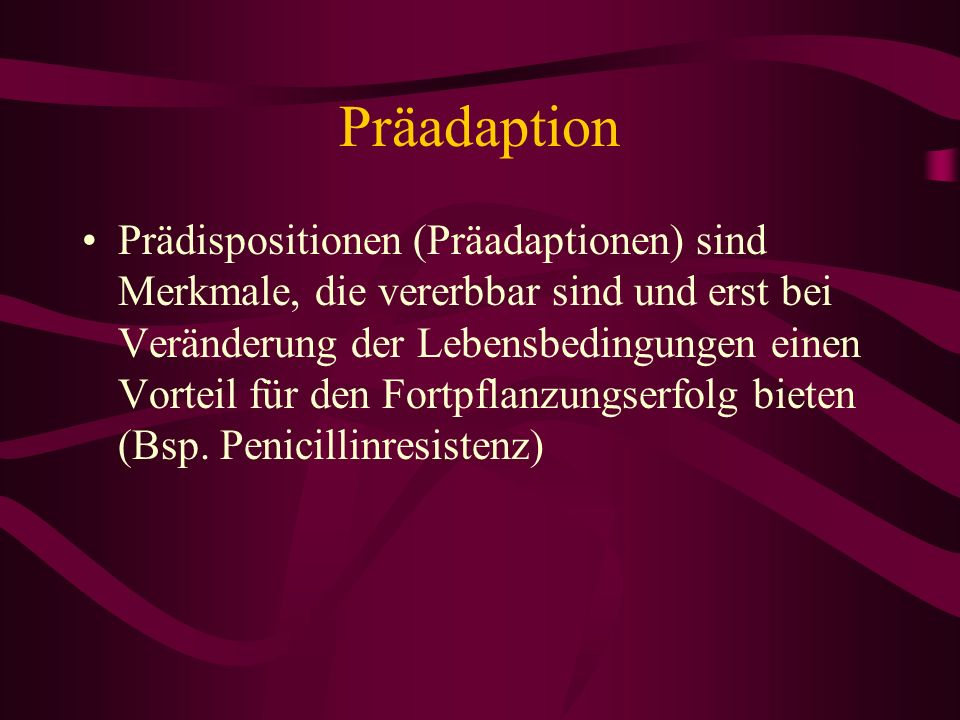 Präadaption
