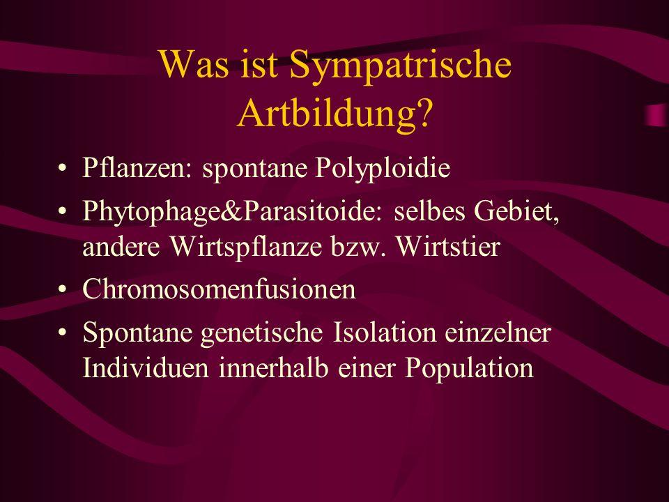 Was ist Sympatrische Artbildung