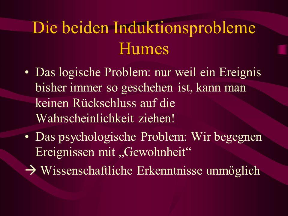 Die beiden Induktionsprobleme Humes