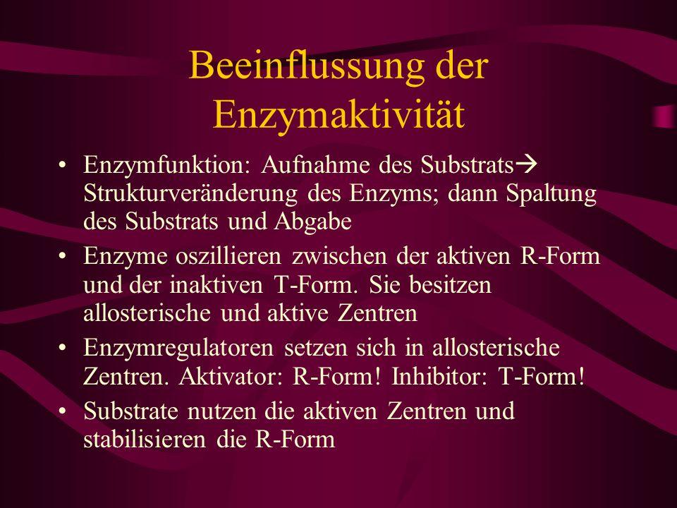 Beeinflussung der Enzymaktivität