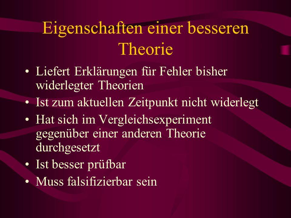 Eigenschaften einer besseren Theorie