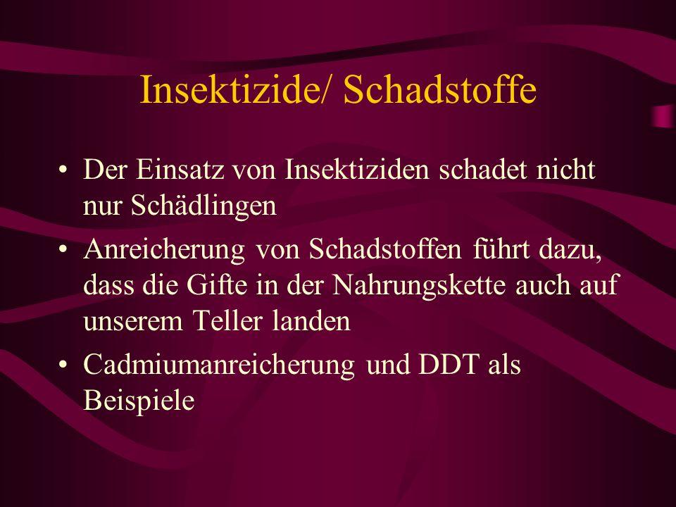 Insektizide/ Schadstoffe
