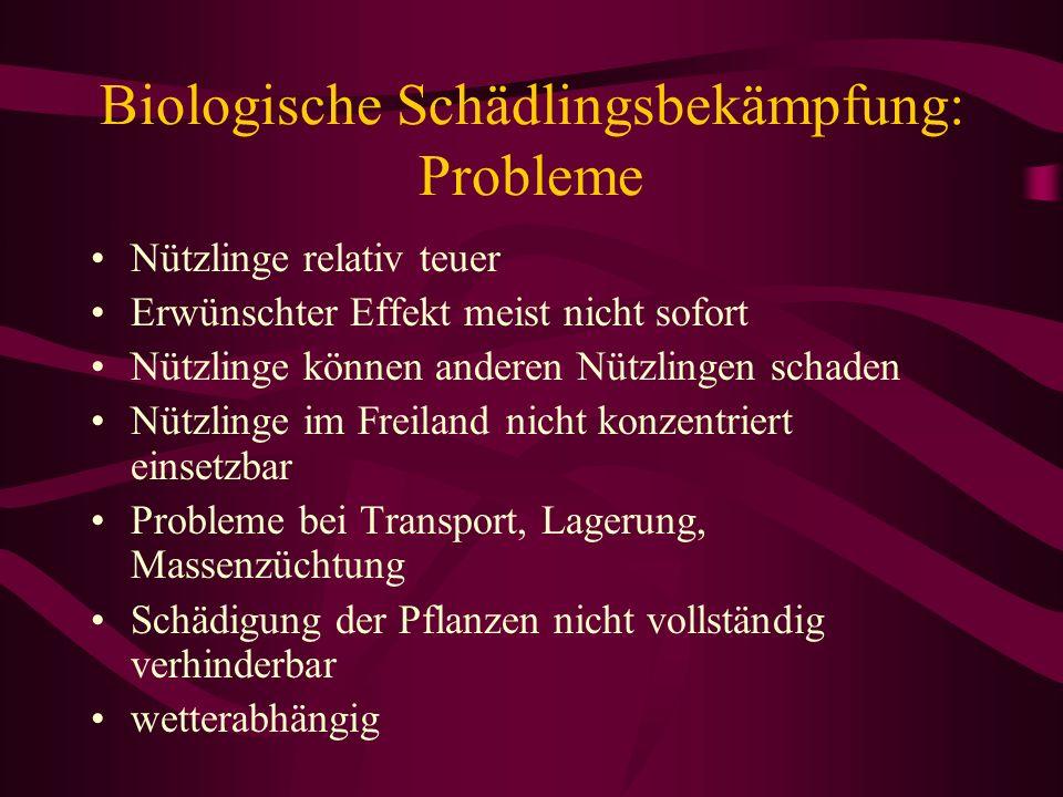 Biologische Schädlingsbekämpfung: Probleme