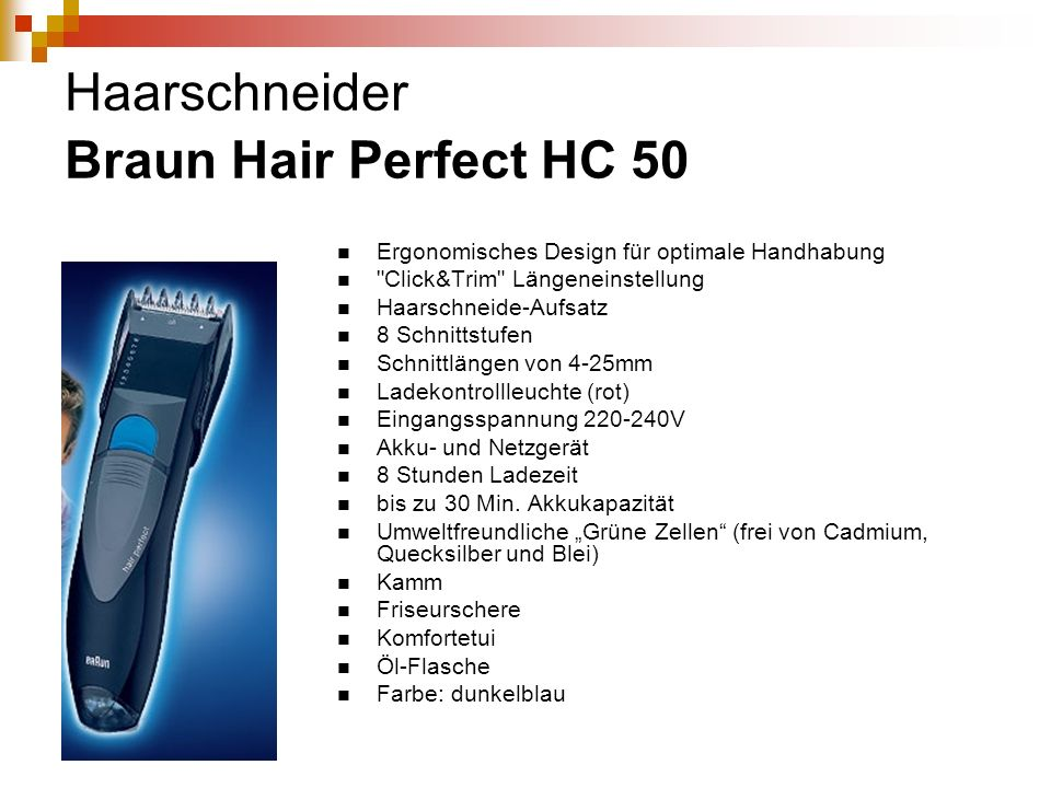 Haarschneider Braun Hair Perfect HC 50