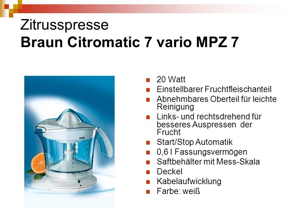 Zitrusspresse Braun Citromatic 7 vario MPZ 7