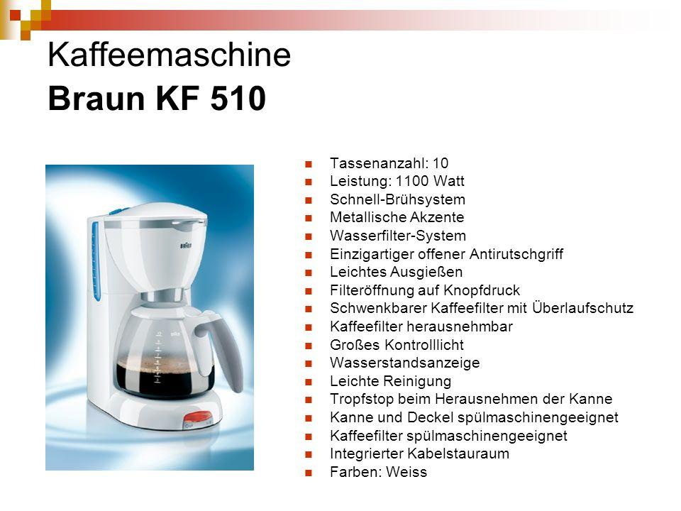 Kaffeemaschine Braun KF 510