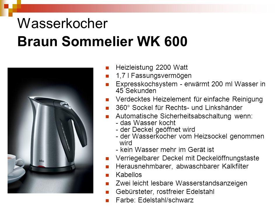 Wasserkocher Braun Sommelier WK 600